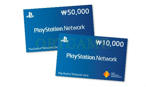 KR playstation network card