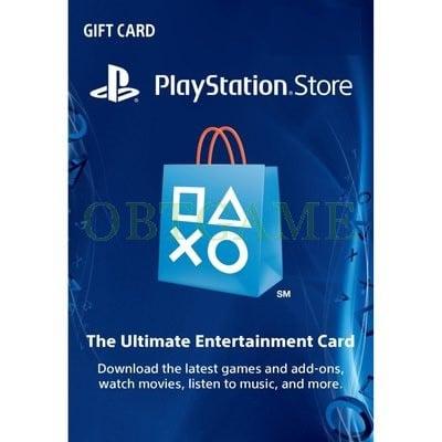 AmericaPSN PS3 PSV PS4 PlayStation Network Card