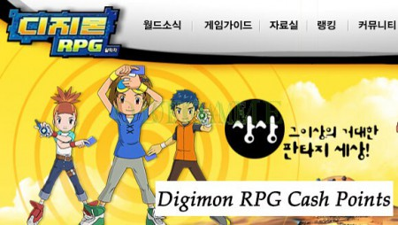 Digimon RPG Korean Cash Points Cash Item