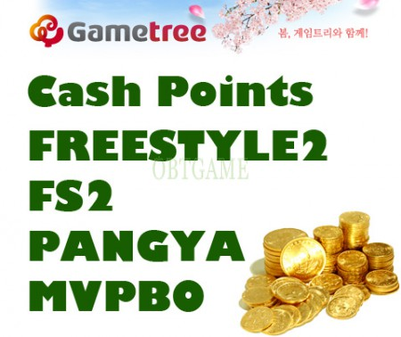 GameTree CASH SHOP CASH POINTS For FREESTYLE2 STREET BASKETBALL FS2 PANGYA MVPBO