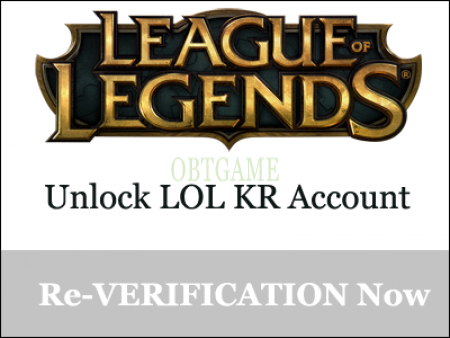 League Of Legends KR Account Inactive Re-Verification