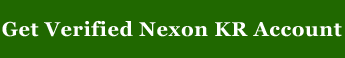 Buy Verified Nexon Korean Account