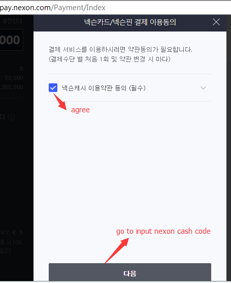 agree-nexon-card-payment